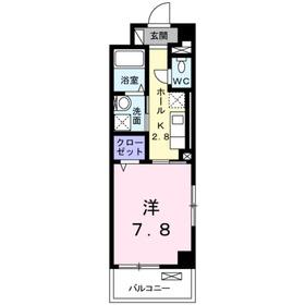 ラフィール鎌倉1階Fの間取り画像