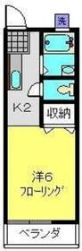 三ッ沢上町駅 徒歩9分2階Fの間取り画像