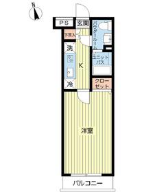 スカイコート下北沢壱番館2階Fの間取り画像