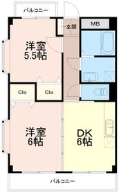 フォレストケー(フォレストK)3階Fの間取り画像