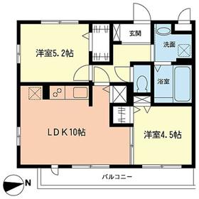 コンフォートガーデン2階Fの間取り画像