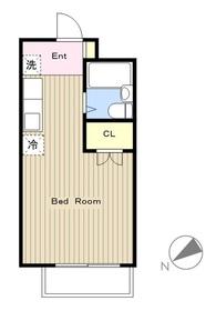 日野屋第1ビル4階Fの間取り画像