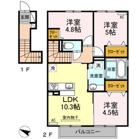 ラヴェール八反田2階Fの間取り画像