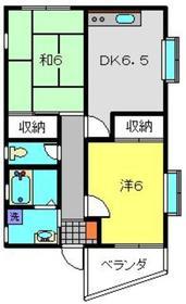 松木マンション2階Fの間取り画像