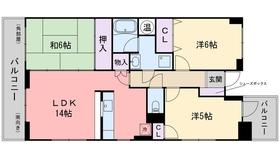 昭和コンフォルト前原7階Fの間取り画像