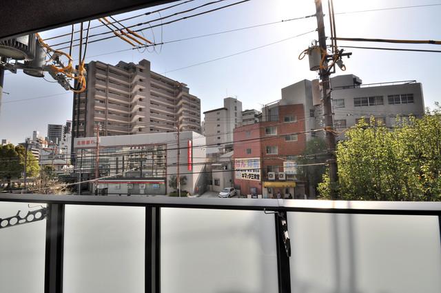 JPレジデンス大阪城東Ⅱ この見晴らしが日当たりのイイお部屋を作ってます。