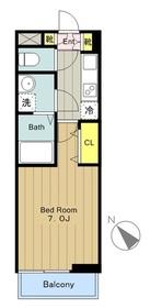 カリーノ41階Fの間取り画像