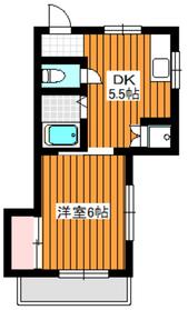 第6シャトル相原1階Fの間取り画像
