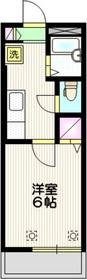 ヴェステンハイム2階Fの間取り画像