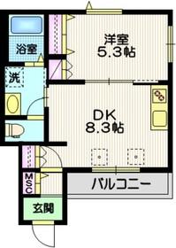 ヴィオリラⅠ3階Fの間取り画像