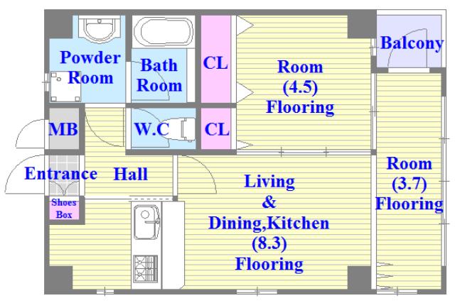 WESTRITZ巽 各部屋がゆったりとした、ファミリータイプの間取り。