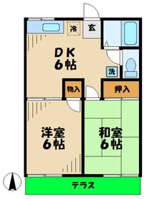 本厚木駅 バス9分「妻田」徒歩4分1階Fの間取り画像