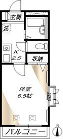 サンライズ西大井2階Fの間取り画像