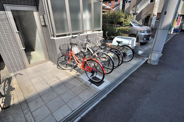 ペントハウス長瀬 あなたの大事な自転車も安心してとめることができますね。