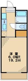 一水園大塚ハイツ1階Fの間取り画像