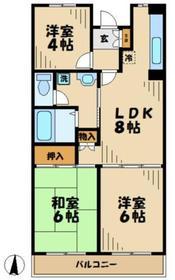 カルチャーバレー唐木田23階Fの間取り画像