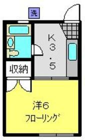 第2鈴木コーポ2階Fの間取り画像