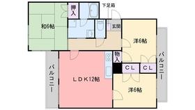 Pマンション3階Fの間取り画像