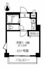 菊名駅 徒歩2分2階Fの間取り画像