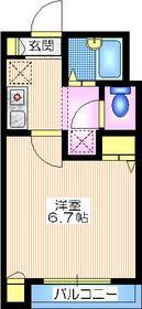 片倉町駅 徒歩7分2階Fの間取り画像