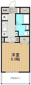 パインリッチ湘南5階Fの間取り画像