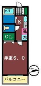 タケハイム船橋4階Fの間取り画像