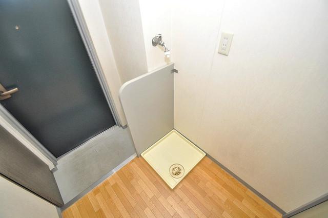 ルヴェール光陽園 嬉しい室内洗濯機置場。これで洗濯機も長持ちしますね。