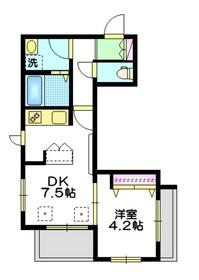千川玄武館4階Fの間取り画像