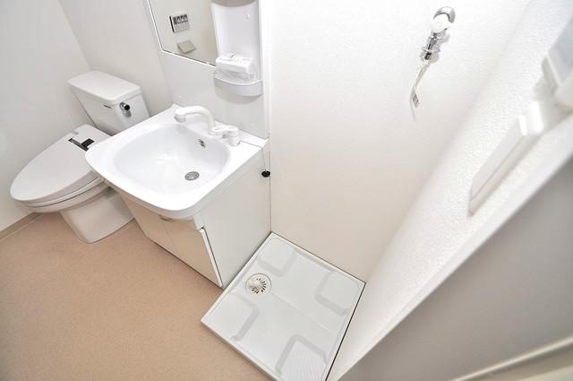 F maison MARE(エフメゾンマーレ) 洗濯機置場が室内にあると本当に助かりますよね。