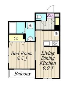 アメニティー相模原市中央5丁目新築アパート1階Fの間取り画像