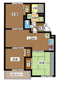 西高島平駅 徒歩11分3階Fの間取り画像