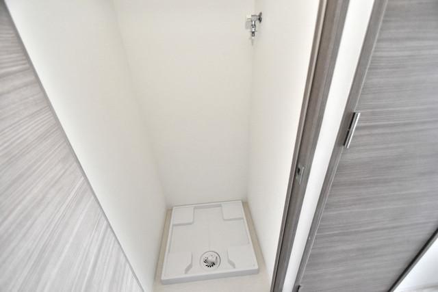 レジュールアッシュOSAKA今里駅前 嬉しい室内洗濯機置場。これで洗濯機も長持ちしますね。