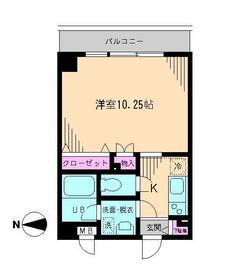 メゾン・アルエ1階Fの間取り画像
