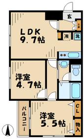 ベルトピア永山23階Fの間取り画像