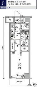 スカイコート木場ガーデン3階Fの間取り画像