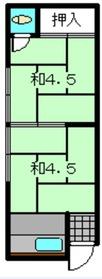 新井荘2階Fの間取り画像