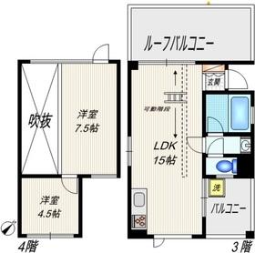 カーサ・ベラ・コルテ3階Fの間取り画像