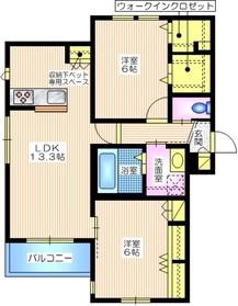 小倉5丁目メゾン1階Fの間取り画像