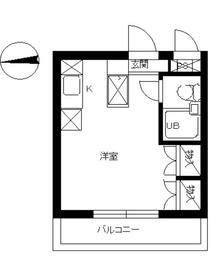スカイコート向ヶ丘遊園4階Fの間取り画像