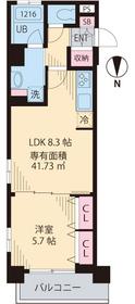 メゾンSKMスカイツリー5階Fの間取り画像