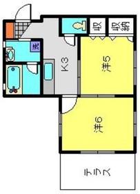 シャトーメイワ1階Fの間取り画像