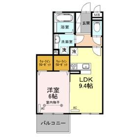 ファミール1階Fの間取り画像