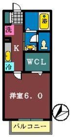 ドルチェ A棟2階Fの間取り画像