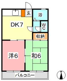 シャイニングヒル2階Fの間取り画像