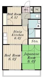 ディア・アルテ5階Fの間取り画像