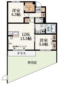 仮称)多摩市和田Mマンション1階Fの間取り画像
