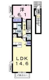 南林間駅 徒歩12分2階Fの間取り画像
