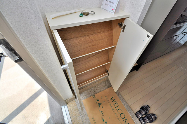 オランジュ上小阪 大きなシューズボックス。女性にはうれしいですよね。