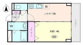 リビエール浅草2階Fの間取り画像