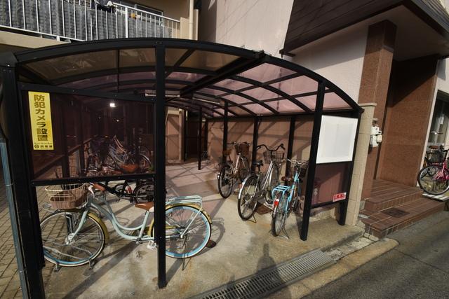 サンサーラ・タツミ あなたの大事な自転車も安心してとめることができますね。